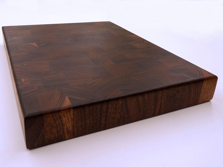 End grain cutting board black walnut