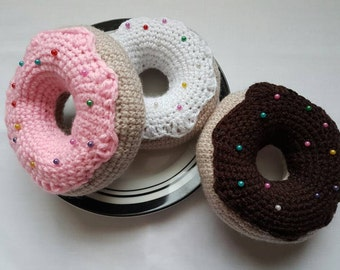 Crochet pincushion, pin cushion, doughnut pincushion, gift, sewing, UK seller