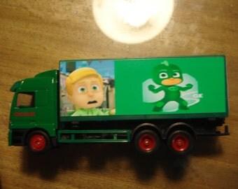 New HO (1/87) Scale PJ Masks Gecko Green Truck