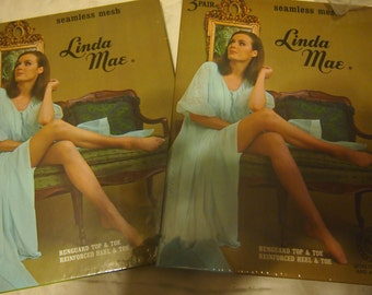 Lot of Two vintage Linda Mae seamless hose in original boxes for one price- three in each box