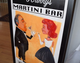 Martini Time, Custom Vintage Inspired Posters