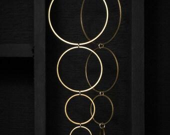 Brass Ring Earrings - Large