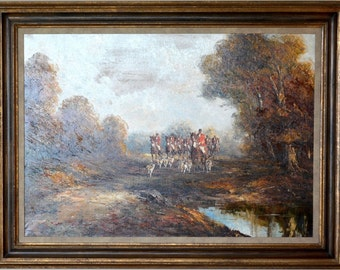 Kurt Heyden Hunting Scene Original Oil