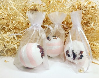 Rose Bath Bombs - Pack of 3