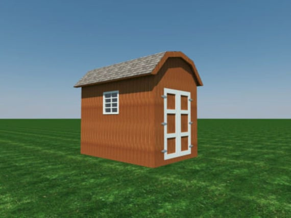Build Your Own 8 39 X 12 39 Gambrel Roof Shed Diy Plans