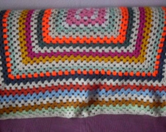 hand crocheted blanket/throw