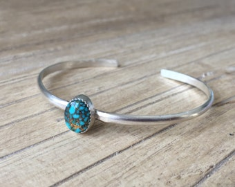 Simple Sterling Silver Textured Cuff Bracelet