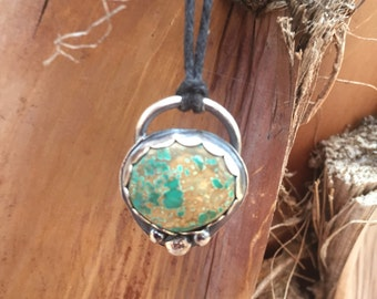 Campitos Turquoise & Silver Pendant