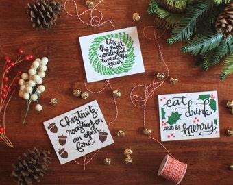 Christmas Card variety set of 7