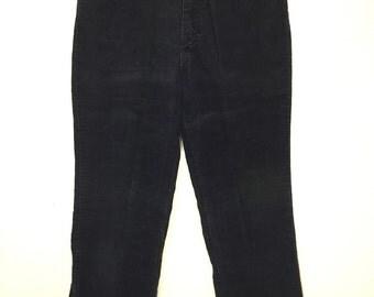 70's wrangler corduroy pants navy blue made in usa 30x29 mens