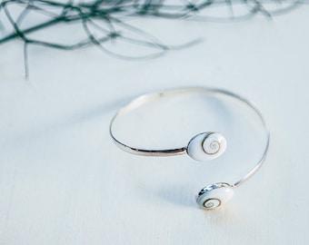 Sterling Silver shiva bracelet, shiva eye bracelet adjustable, shiva eye cuff, sterling silver cuff, gift for mum, silver adjustable cuff