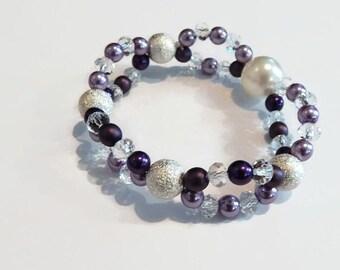 Elegant purple Pearlised Bracelet