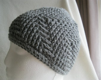 Fully reversible sparkly handmade hat. Sparkle. Sparkle. Sparkle. To fit 46-48cm.