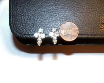 Vintage Jay Flex Sterling Screw back Earrings Cross Design