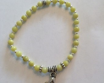 Yellow Serpentine Turtle Bracelet