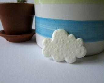 Cloud. Brooch.
