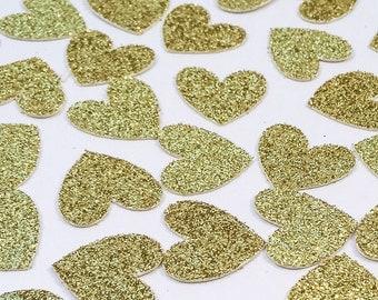Gold Glitter Heart Confetti • Wedding Confetti • Bachelorette Confetti • Birthday Confetti • Bridal Shower Confetti • Party Decor