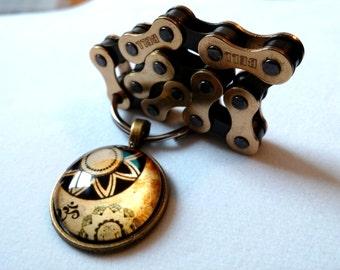Bicycle Key Chain, Yoga, Bike Key Chain, Handmade