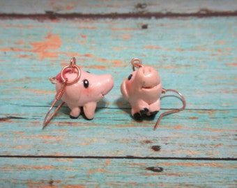 Hawk inspired by the seven deadly sins - happy pig - anime - Meliodas friend - polymer clay earrings