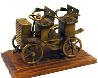 Vintage Metal Car Sculpture (Made in Spain)
