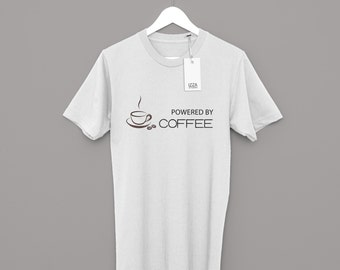 Powered By Coffee Design T-shirt For Men