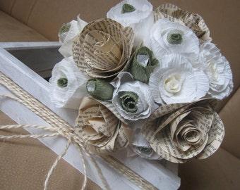 15pcs, vintage paper flower, bridesmaids