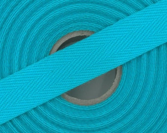 Package 5 m Ribbon 100% cotton webbing twill 14 mm Made in Europe / Colors to choose