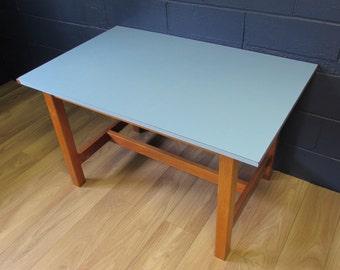 Retro Blue Melamine Topped Tables