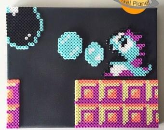 Bubble Bobble Perler Beads Sprites (Bob) | Pixel art on canvas