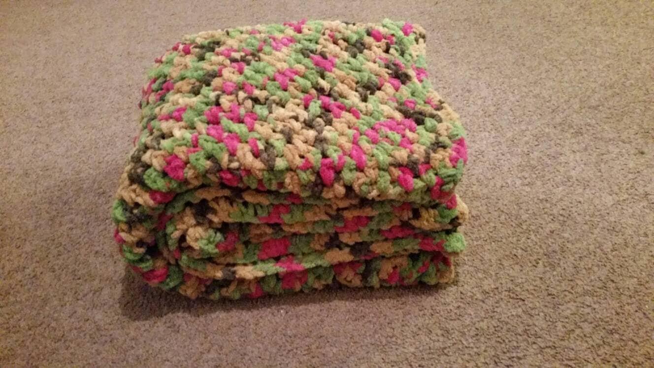 Super Bulky Chateau Yarn Crocheted Throw By