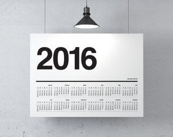 Meenyminy A2 Calendar Scandi White
