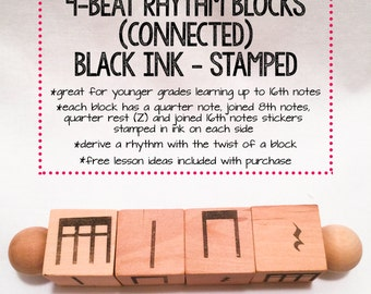 STAMPED INK 4-Beat Rhythm Blocks (Connected)