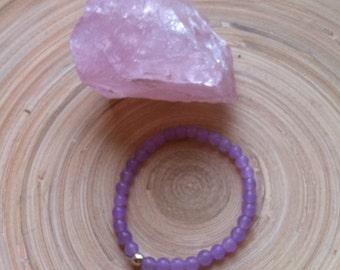 Stretch bracelet lavender  Jade | 6mm beads | elastic beaded bracelet| FREE SHIPPING
