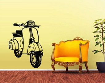 rvz1607 Wall Decal Vinyl Sticker Decals Scooter Bike Motocycle Vespa Moto Retro