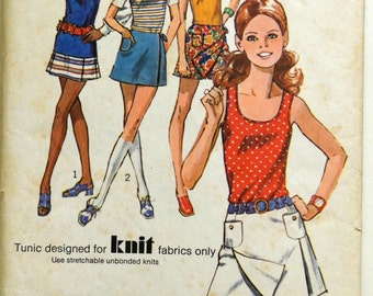 1970s Simplicity Vintage Sewing Pattern 9332, Size 11/12