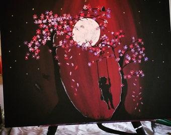 Swinging Under the Midnight moon