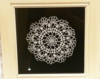 Doily Art in a Square Frame