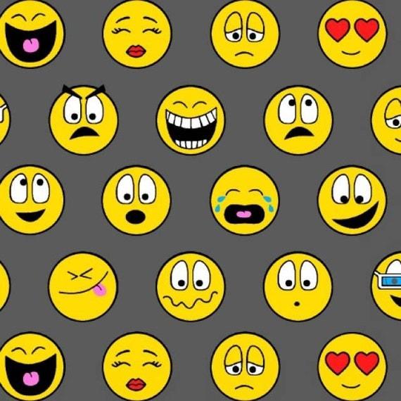 Emoticons emoji fleece fabric style a 40912 by for Emoji fabric