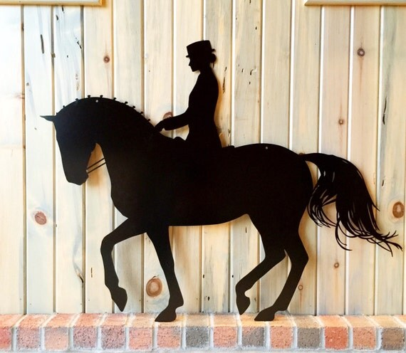 Piaffe Dressage Silhouette by FriesiansontheRidge on Etsy