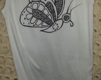 12M Butterfly 2 onesie tank