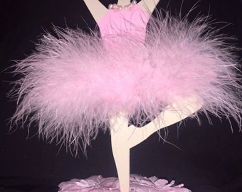 Decorated wooden Ballerina. Great for centerpieces