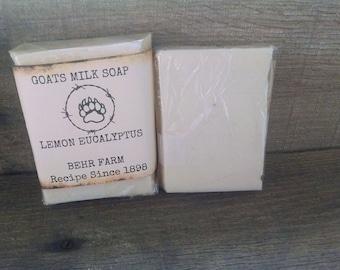 Lemon Eucalyptus goats milk soap