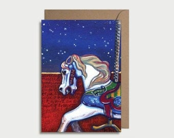 Greeting card - Carousel Horse