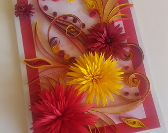 Quilling Greating Card, Quilled Card,  Birthday Quilling Card, Mother day card, Handmade Quilling Card