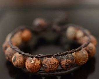 PRICE DROP was 25.00 now 15.00 Brown Antique Agate Chan Luu Style Bracelet