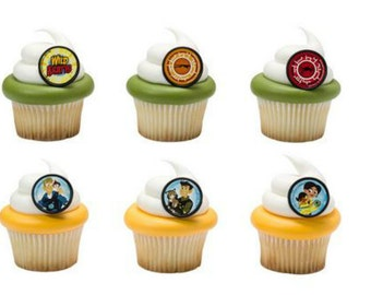 Wild Kratts cupcake rings (24) party favor cake topper 2 dozen