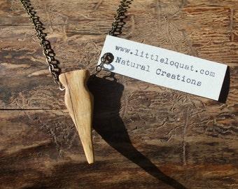 Natural wood pendant ~ organic wooden jewellery ~ rustic wood pendant ~ simple earth jewellery