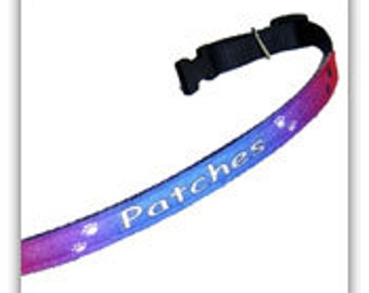 Personalized Dog or Cat Collar with Phone Number for ID