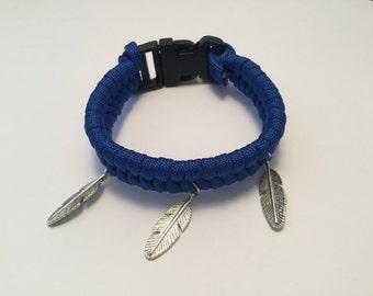Bracelet style Paracord blue