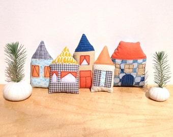 Fabric Houses, Window Ornaments, Nursery Decor, Kid's Room Decor